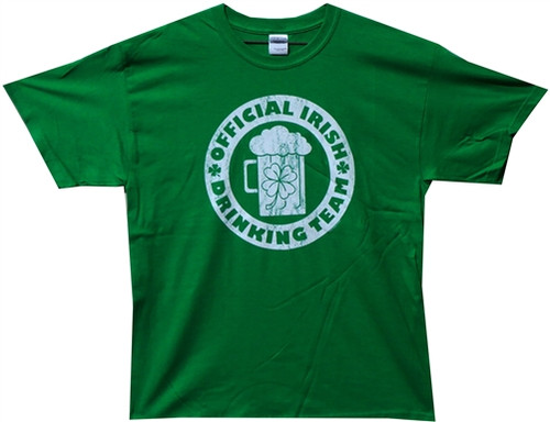 Image Closeup for Official Irish Drinking Team T-Shirt