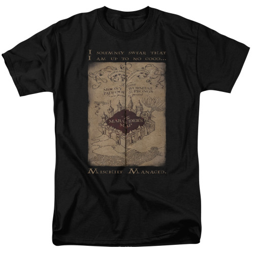 Image for Harry Potter T-Shirt - Marauder's Map Words
