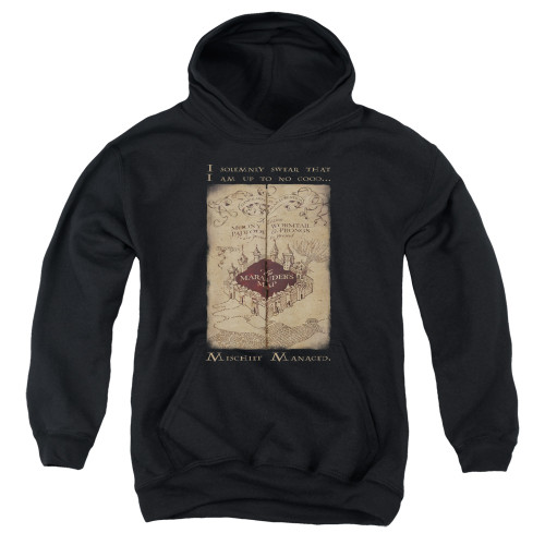Image for Harry Potter Youth Hoodie - Maruader's Map Words