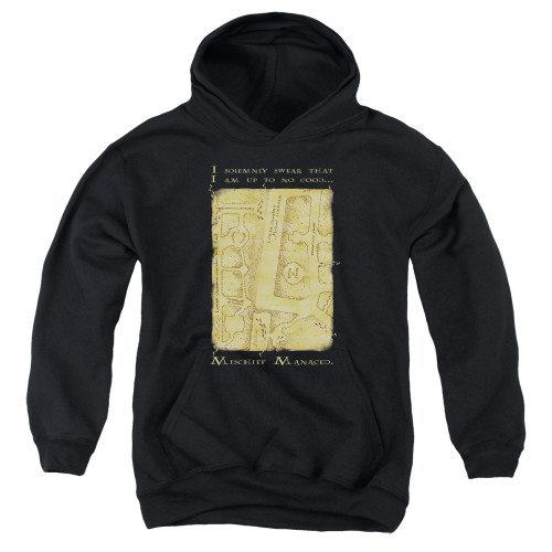 Image for Harry Potter Youth Hoodie - Map Interior