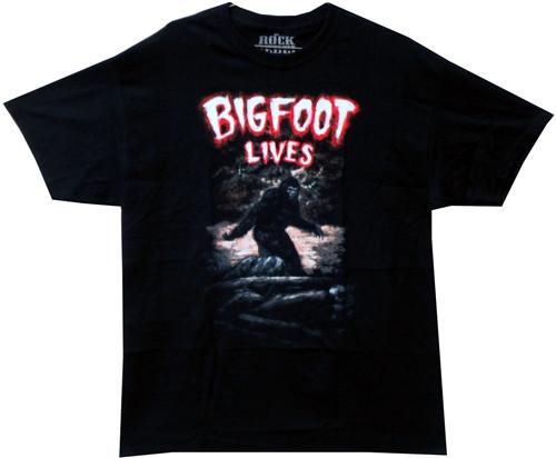 Image Closeup for Bigfoot Lives T-Shirt