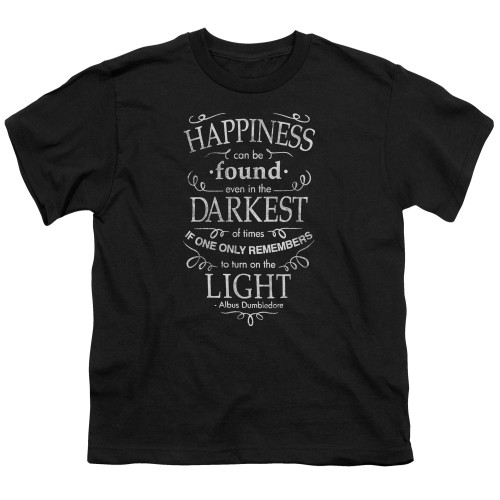 Image for Harry Potter Youth T-Shirt - Happiness Can Be Found