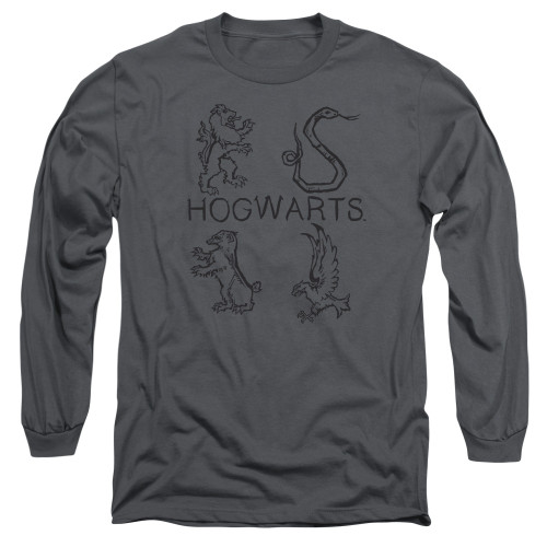 Image for Harry Potter Long Sleeve Shirt - Literary Crests