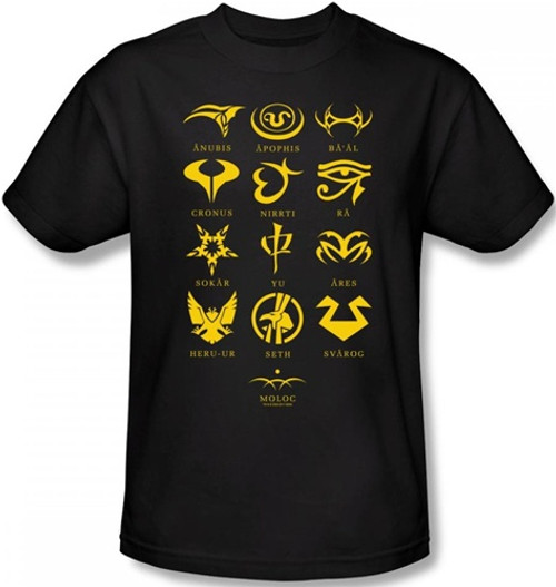 Image Closeup for Stargate SG1 Goa'uld Characters T-Shirt