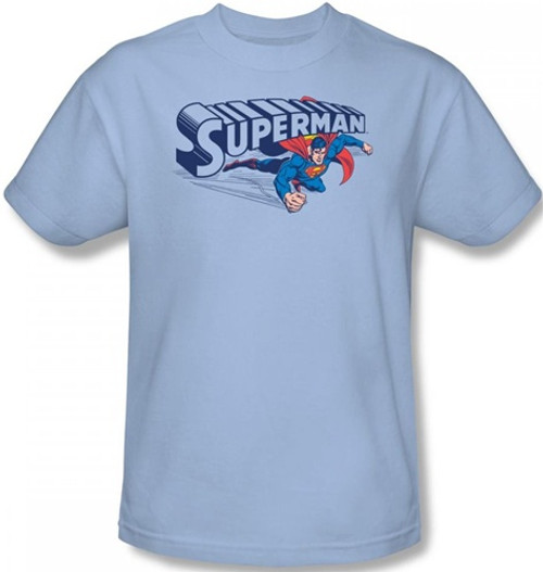 Image Closeup for Superman T-Shirt - Under Logo
