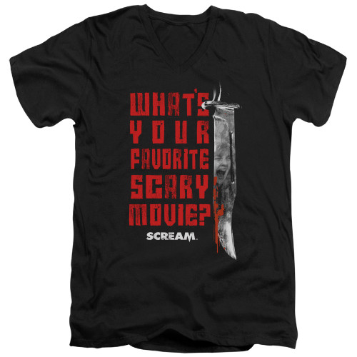 Image for Scream V Neck T-Shirt - Favorite