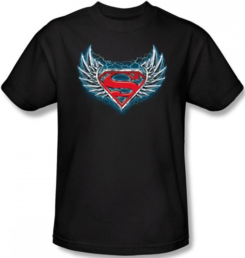 Image Closeup for Superman T-Shirt - Steel Wings Logo