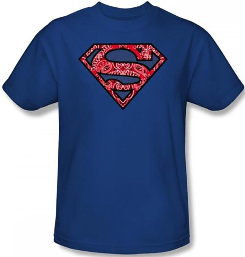 Image Closeup for Superman T-Shirt - Paisley Shield Logo
