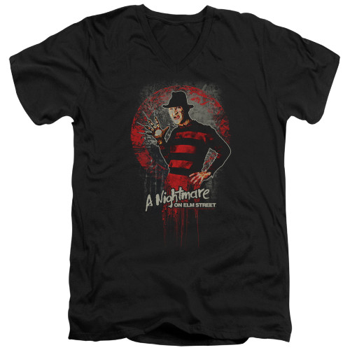 Image for A Nightmare on Elm Street V Neck T-Shirt - Hello