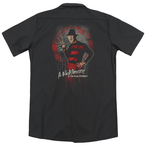 Image for A Nightmare on Elm Street Dickies Work Shirt - Hello