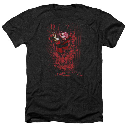 Image for A Nightmare on Elm Street Heather T-Shirt - One Two Freddy's Coming For You