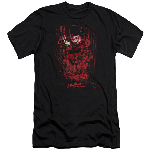 Image for A Nightmare on Elm Street Premium Canvas Premium Shirt - One Two Freddy's Coming For You