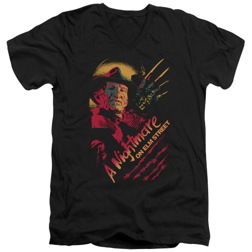 Image for A Nightmare on Elm Street V Neck T-Shirt - Freddy Claws