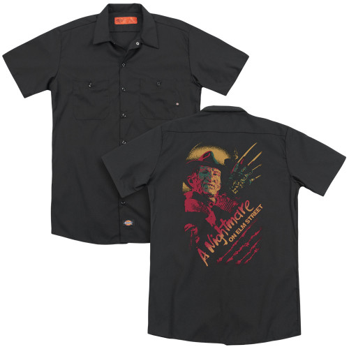 Image for A Nightmare on Elm Street Dickies Work Shirt - Freddy Claws