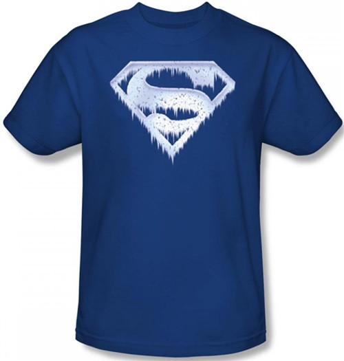 Image Closeup for Superman T-Shirt - Ice and Snow Shield Logo