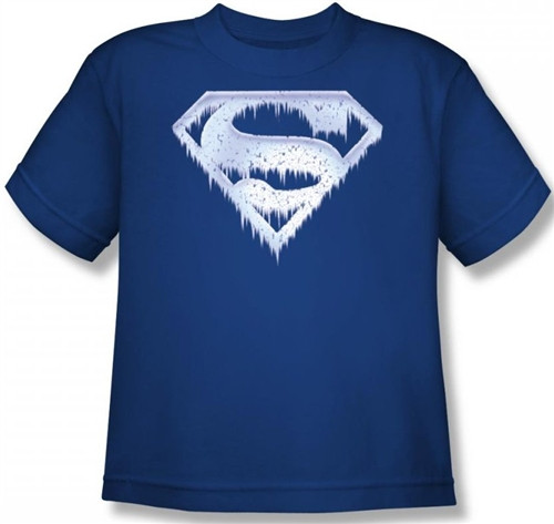 Image for Superman Kids T-Shirt - Ice and Snow Shield Logo