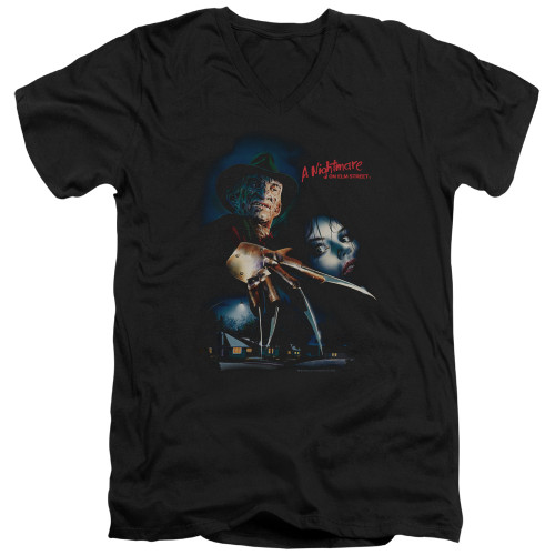 Image for A Nightmare on Elm Street V Neck T-Shirt - Poster