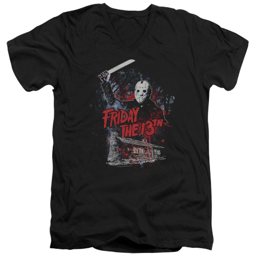 Image for Friday the 13th V Neck T-Shirt - Cabin