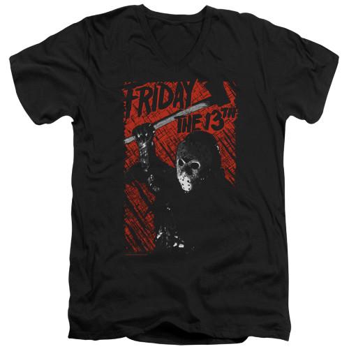 Image for Friday the 13th V Neck T-Shirt - Jason Lives