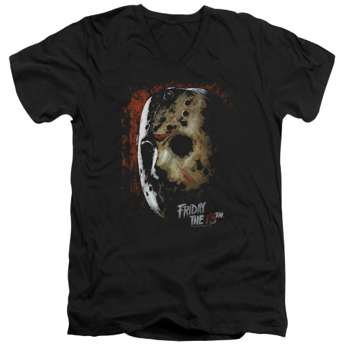 Image for Friday the 13th V Neck T-Shirt - Mask of Death