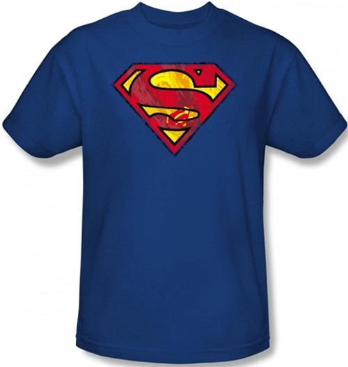 Image Closeup for Superman T-Shirt - Action S Shield Logo