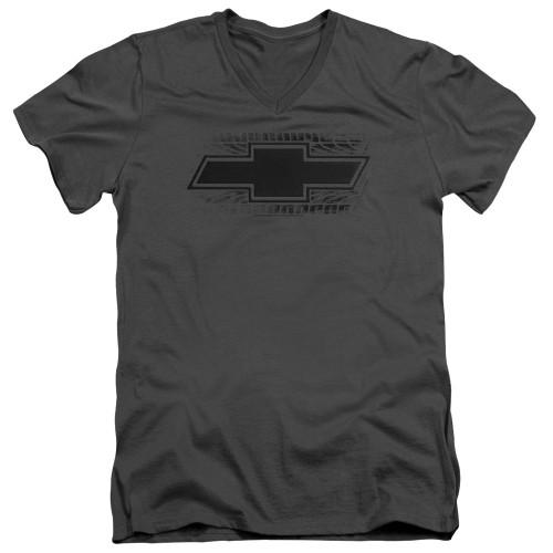 Image for Chevrolet V Neck T-Shirt - Bowtie Burnout