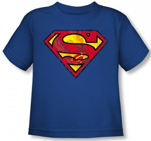 Image for Superman Toddler T-Shirt - Action S Shield Logo
