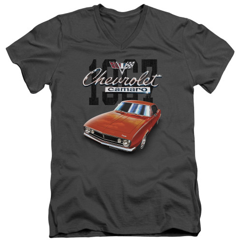 Image for Chevrolet V Neck T-Shirt - Classic Red Camero