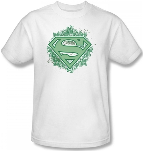 Image Closeup for Superman T-Shirt - Ornate Shield Logo