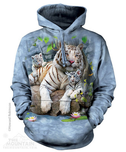 Image for The Mountain Hoodie - White Bengal Tigers