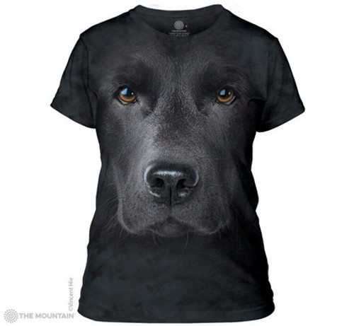Image for The Mountain Girls T-Shirt - Black Lab Face