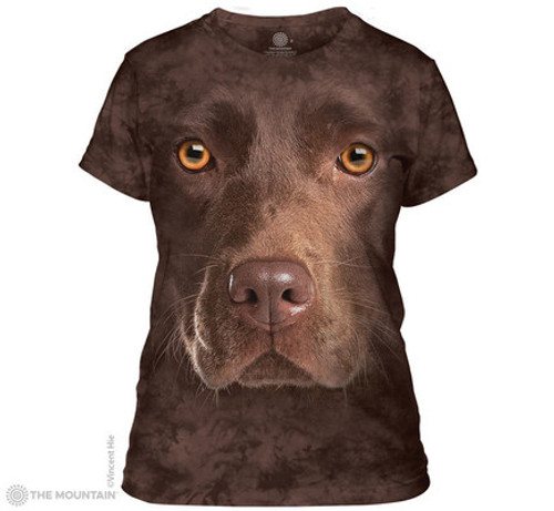 Image for The Mountain Girls T-Shirt - Chocolate Lab Face