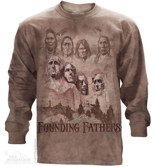 Image for The Mountain Long Sleeve T-Shirt - The Founders