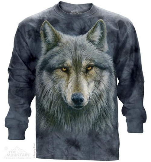 Image for The Mountain Long Sleeve T-Shirt - Warrior Wolf