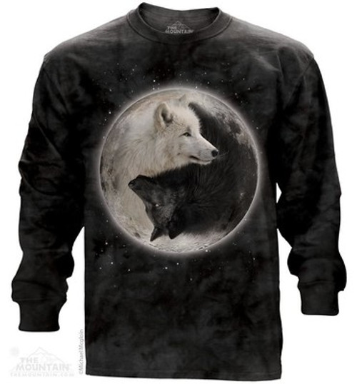 Image for The Mountain Long Sleeve T-Shirt - Yin Yang Wolves