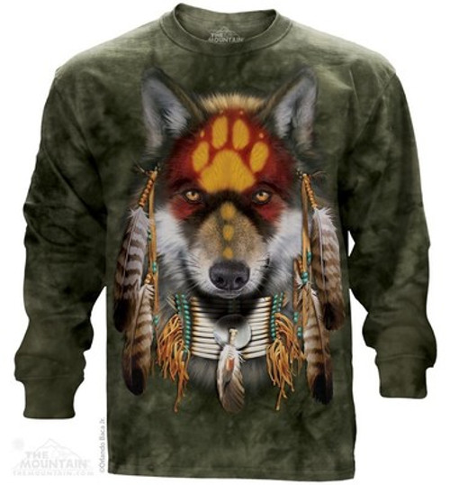 Image for The Mountain Long Sleeve T-Shirt - Wolf Spirit