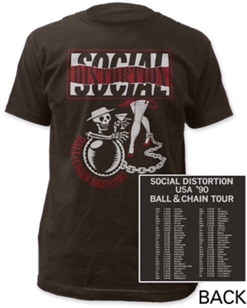 Image for Social Distortion Ball and Chain Tour T-Shirt