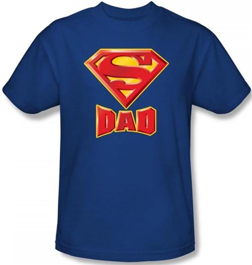 Image Closeup for Superman T-Shirt - Dad's Super Shield Logo