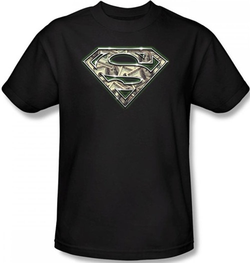 Image Closeup for Superman T-Shirt - All About the Benjamins Logo