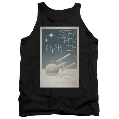 Image for Star Trek Juan Ortiz Episode Poster Tank Top - Ep. 2 Charlie X on Black
