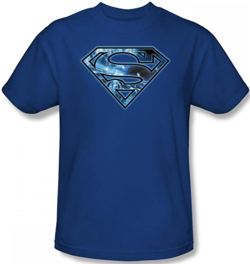 Image Closeup for Superman T-Shirt - On Ice Shield Logo