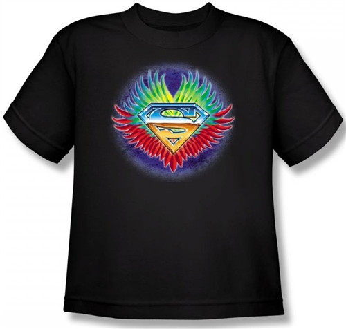 Image for Superman Youth T-Shirt - Don't Stop Believing Shield Logo