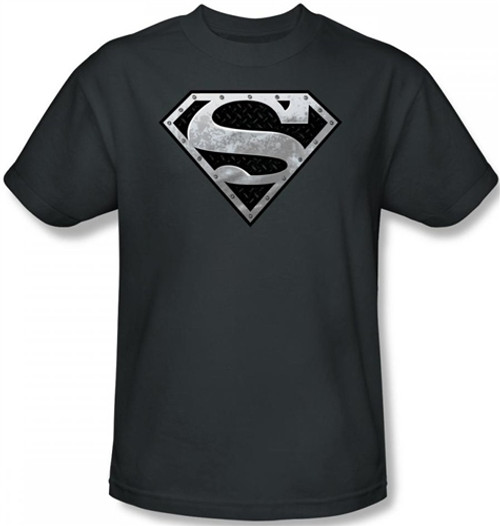 Image Closeup for Superman T-Shirt - Super Metallic Shield Logo