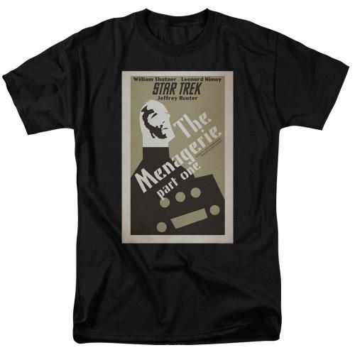 image for Star Trek Juan Ortiz Episode Poster T-Shirt - Ep. 11 the Menagerie Part One on Black