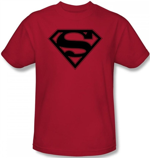 Image Closeup for Superman T-Shirt - Red & Red Shield Logo