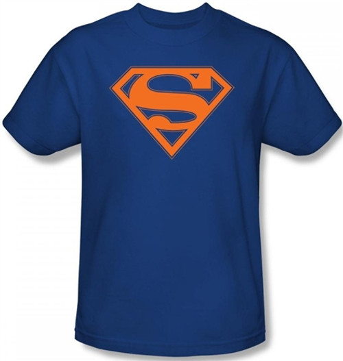 Image Closeup for Superman T-Shirt - Blue & Orange Shield Logo