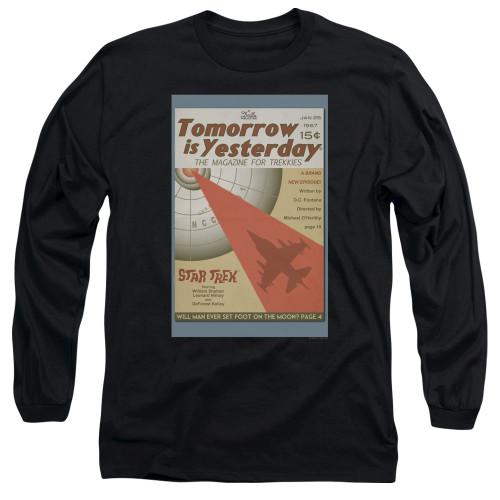 Image for Star Trek Juan Ortiz Episode Poster Long Sleeve Shirt - Ep. 19 Tomorrow is Yesterday on Black