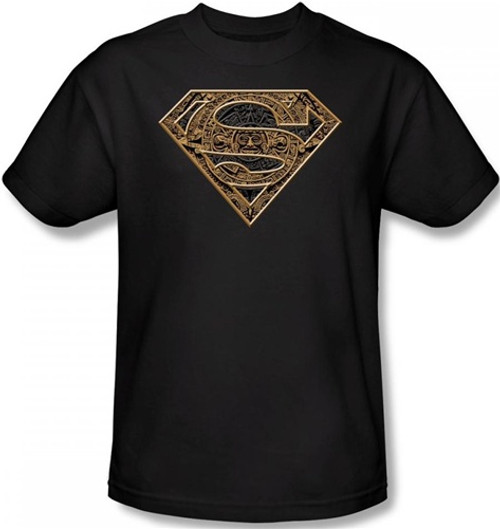 Image Closeup for Superman T-Shirt - Aztec Shield Logo