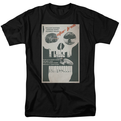 Image for Star Trek Juan Ortiz Episode Poster T-Shirt - Ep. 23 A Taste of Armageddon on Black