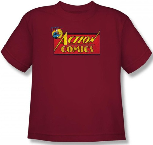 Image for Superman Youth T-Shirt - Action Comics Logo